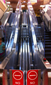 Fred Meyers escalator